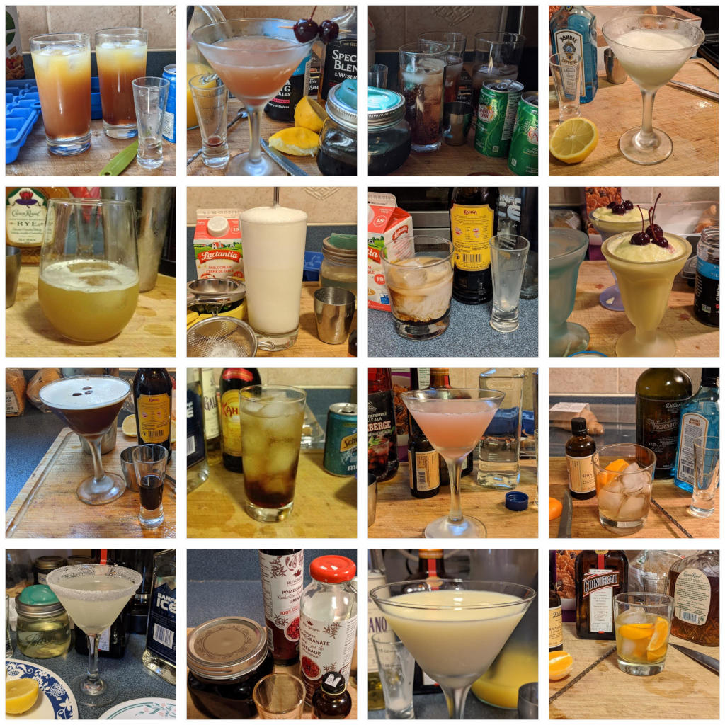 Covid cocktails 2 collage