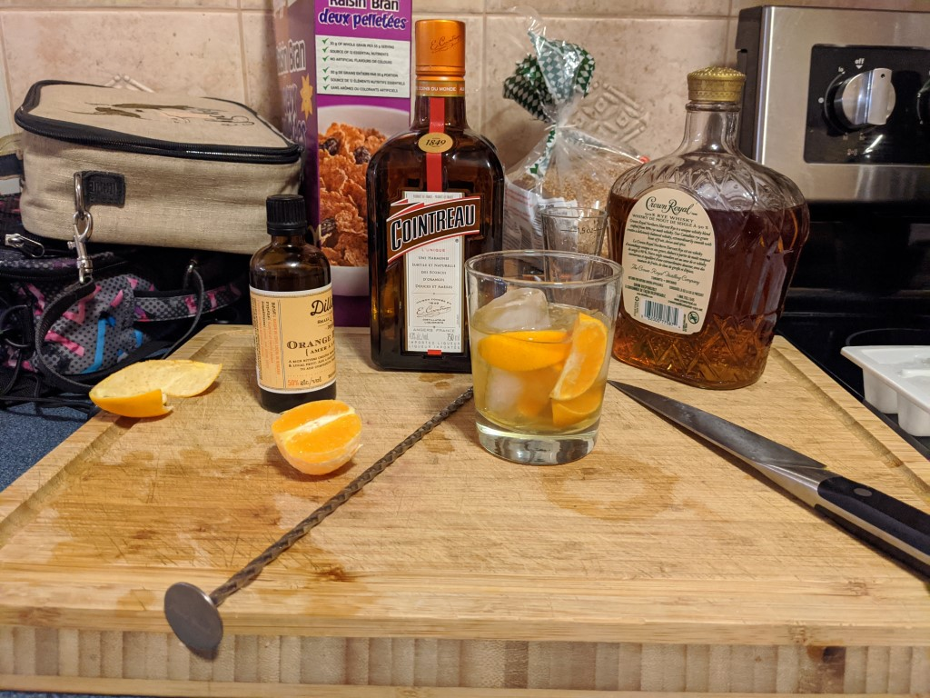 Orange old fashioned